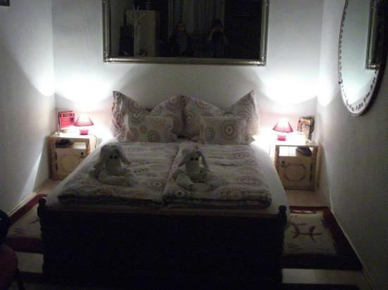 """Firstapartments Inn City Center: The bed in our """"studio"""" apartment"""