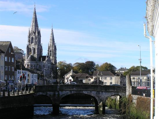 Auburn House: Cork view - up river to St Fin Barre's Cathedral