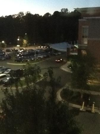 Hyatt Place Raleigh-Durham Airport: view at night outside our window-another hotel