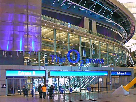 Arena entrance picture of the o2 london tripadvisor for Hotels 02 arena london