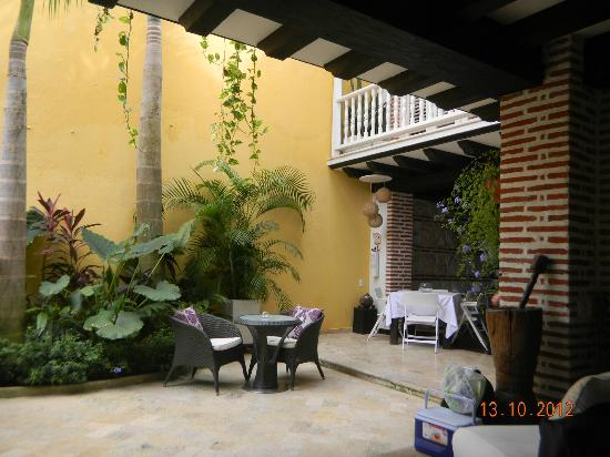 Casa Santa Ana: Dining Area under the Balcony