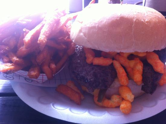 Cheetos Burger  - Picture of Hubcap Grill, Houston