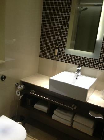 Regency Hotel - Queen&#39;s Gate: bathroom sink, plenty of storage and counter space