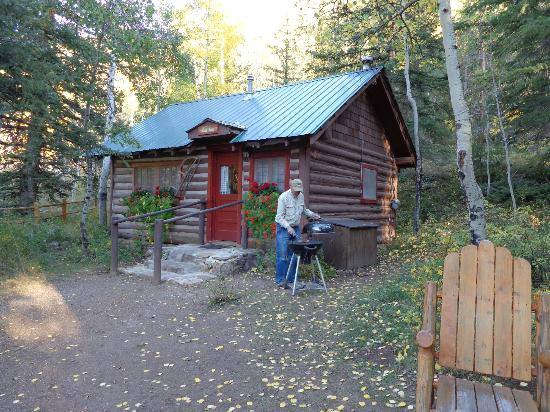 Pioneer Guest Cabins: Making dinner at the Red Fox cabin