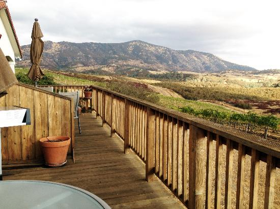 Soledad, Kalifornia: The view of the Pinnacles from our deck