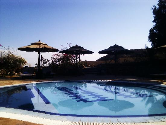 The Bedouin Moon Hotel: View from my chair by the pool