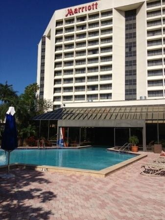Tampa Marriott Westshore: Outside Marriott from Pool Area