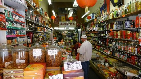 Shops selling more traditional chinese products herbs