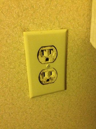 Holiday Inn Express Winchester: mold growing on outlet