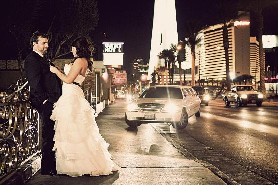 Just Married Inside The La Capella Wedding Chapel In Las Vegas At Chapel Of The Flowers