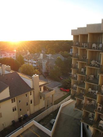 Virginia Beach Resort Hotel and Conference Center: view from balcony on 7th floor, facing East at sunrise
