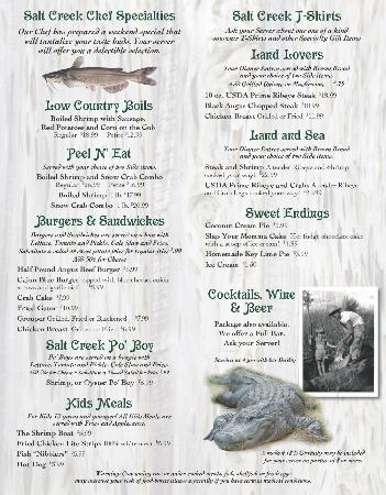 Suwannee, FL: New menu second page
