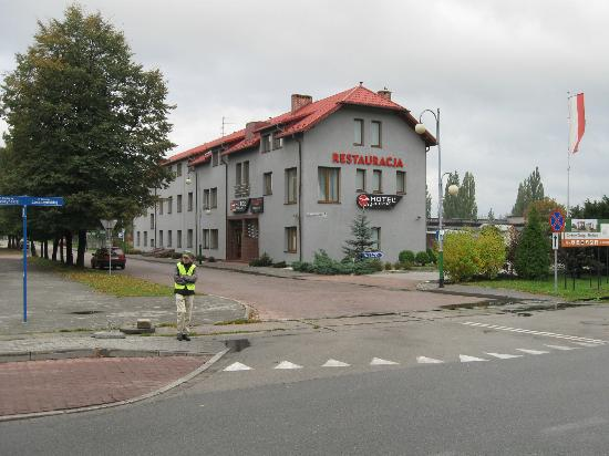 Hotel Olecki as seen from Auschwitz Museum parking area.