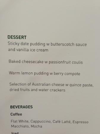 RACV Royal Pines Resort: sent this to my PT to ask what was healthiest. average $9