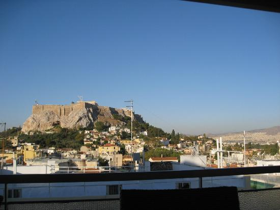 Adonis Hotel: view from breakfast room