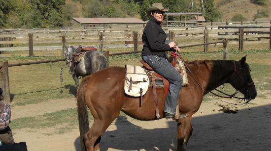 Red Horse Mountain Dude Ranch: ready to head out...