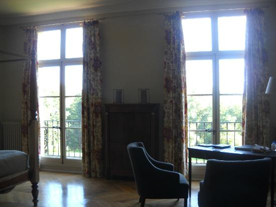 Chateau de Perreux - Amboise: Room view - towards the windows