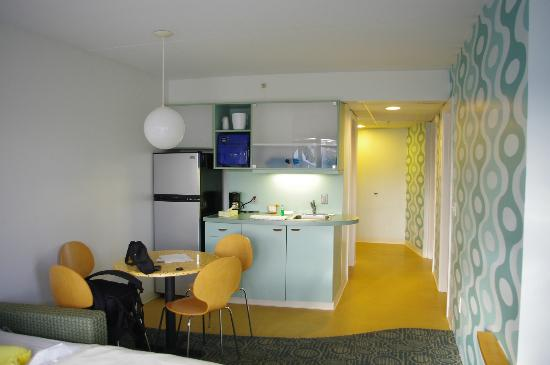 The StarLux: Kitchen Area and Hallway