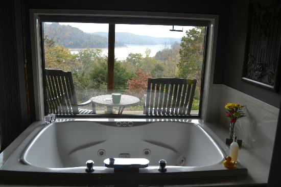 Beaver Lakefront Cabins: tub in living room