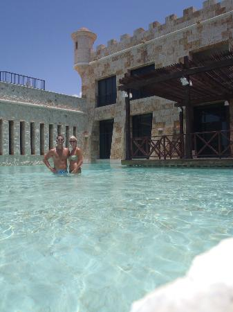 Another public pool in the castle for Sanctuary cap cana honeymoon suite