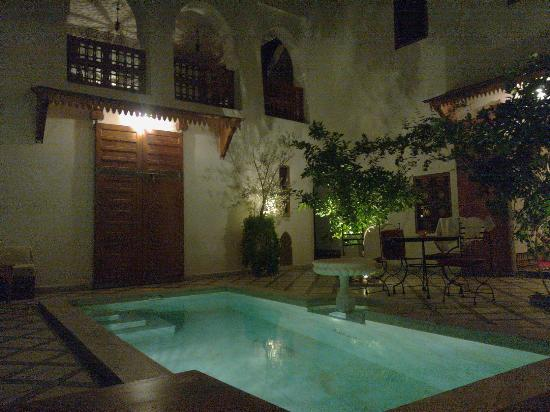 Riad Zineb: Pool Nighttime