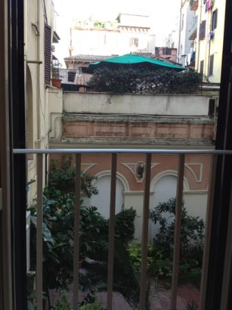 Hotel Rosetta: view from our room into courtyard