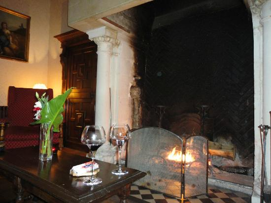 Chateau de Marcay: fire place