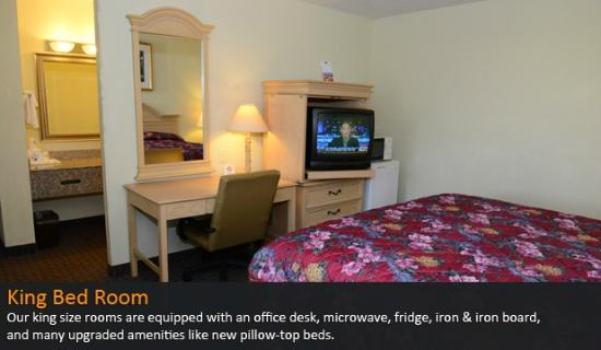 Americas Best Value Inn Suites Enterprise: King Bed Room (Another View)