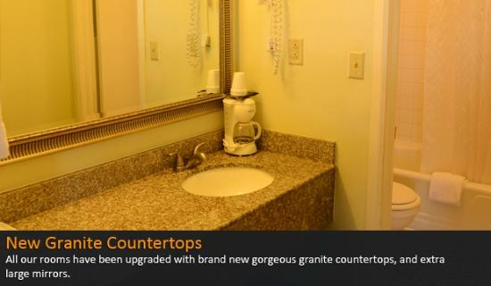 Americas Best Value Inn Suites Enterprise: Brand New Granite Countertops & Extra Large Mirrors