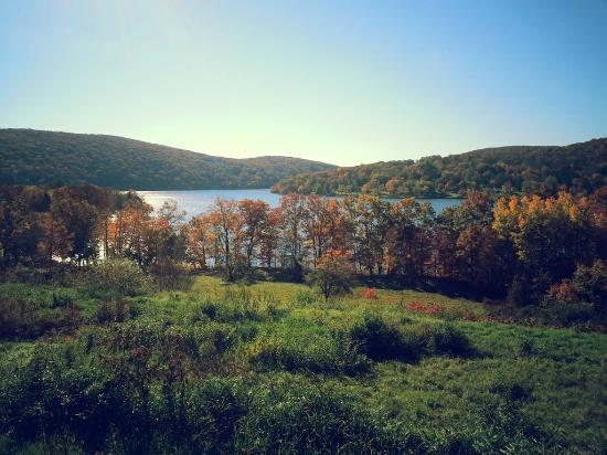 The Sachem Farmhouse Bed & Breakfast: The view of the lake