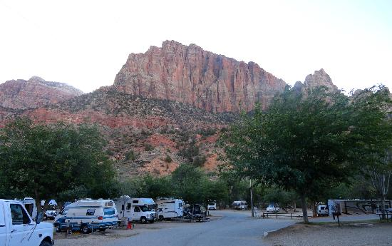 Zion Canyon Campground: View from the campground