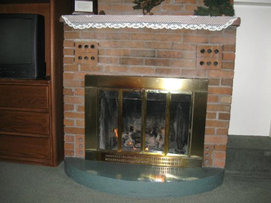 Deer Crest Resort: The fireplace.