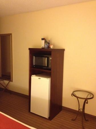 Holiday Inn Express Enterprise: fridge and micro in room
