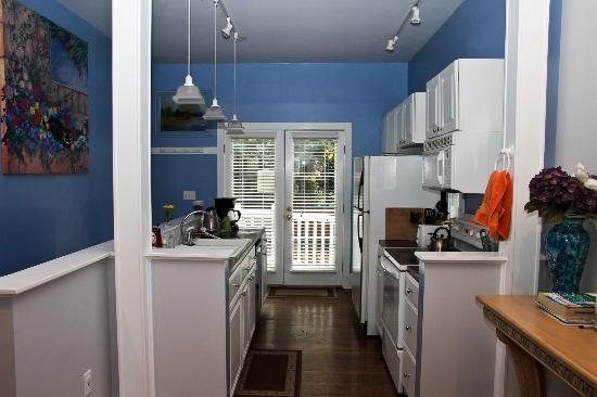 """Seattle Hill House B & B: the kitchen in """"the blue house"""""""