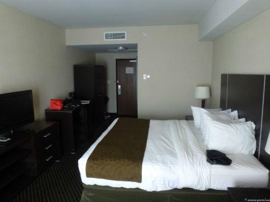 Quality Inn & Suites: Spacious, clean room with great bed