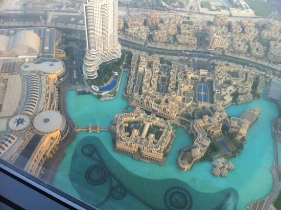 View from burj khalifa on the hotel picture of the palace downtown dubai dubai tripadvisor for Burj khalifa swimming pool 76th floor