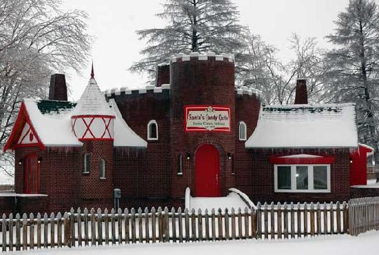 Santa Claus, IN: Chat with an elf at Santa's Candy Castle