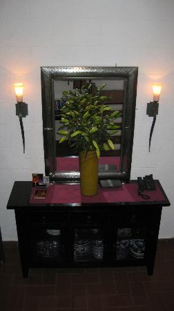 The Red Tree House: view from stairwell. there were two huge vases of lilies that made the entire house fragrant