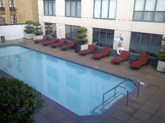 Hyatt at Fisherman's Wharf: View of pool from my 4th floor room