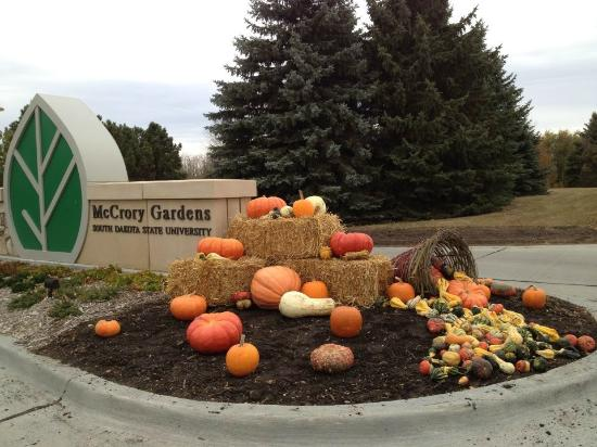 Mccrory Gardens Entry Sign With Fall Decorations Picture Of Mccrory Gardens Brookings