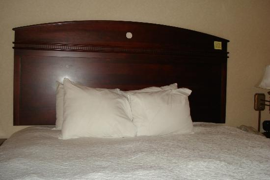 Hampton Inn Cambridge: unusual headboard