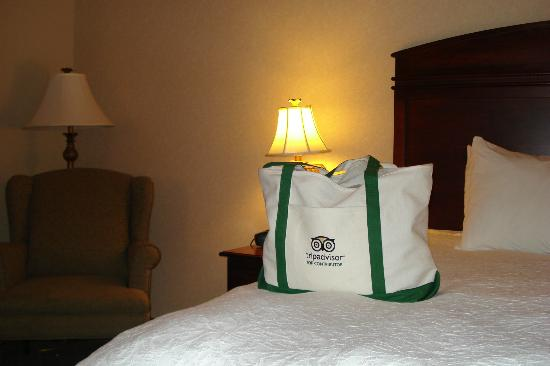 Hampton Inn Cambridge: our bed
