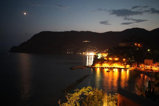 Hotel Porto Roca: View from our room at night