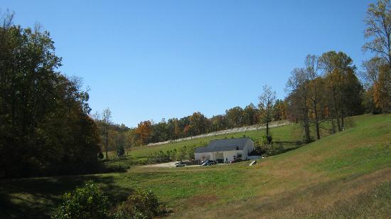Lovingston, : View as entering tasting/winemaking area