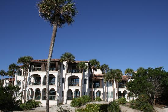 The Cloister at Sea Island: View of our room from the beach
