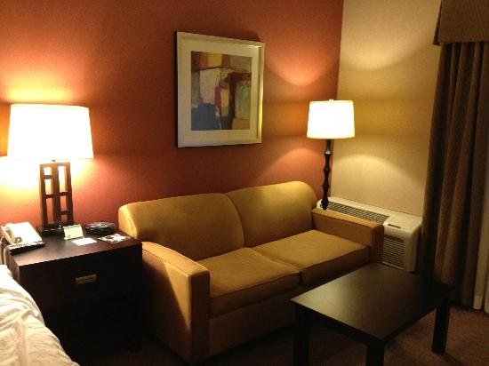 Holiday Inn Express Encinitas - Cardiff Beach Area: Couch converts to a bed!