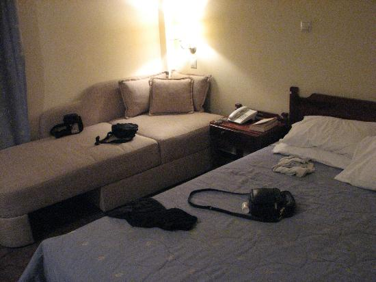 Hotel Elena: Room, with sofa that extended to make another comfortable bed