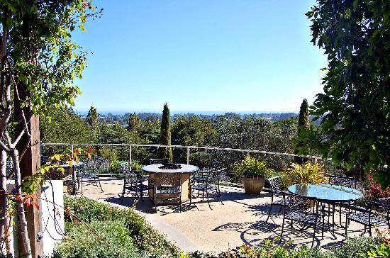 View From The Courtyard Terrace Picture Of Chaminade Resort Amp Spa Santa Cruz Tripadvisor