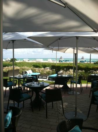 Ritz-Carlton South Beach: Ocean front terrace bar, cafe