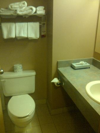 Super 8 Calgary Airport: Clean Bathroom